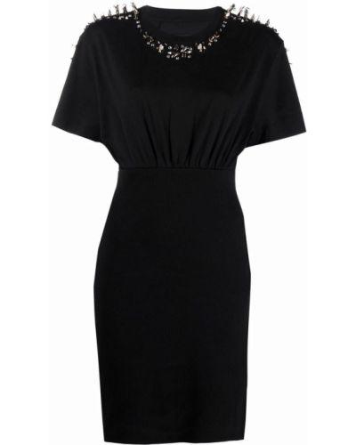 Sukienka mini srebrna - czarna Givenchy