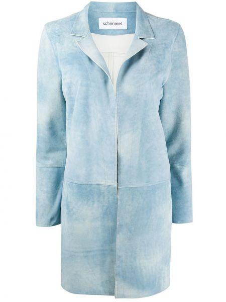 Кожаное пальто - синее Sylvie Schimmel