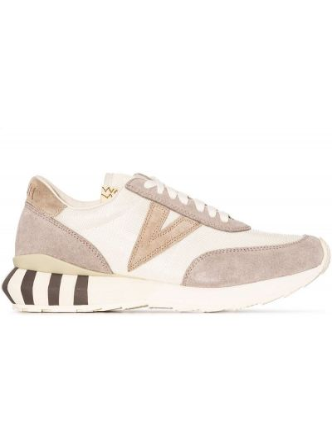 Beżowe sneakersy na obcasie Visvim
