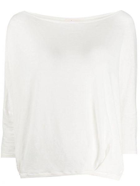 Льняной белый плиссированный вязаный свитер Ma'ry'ya