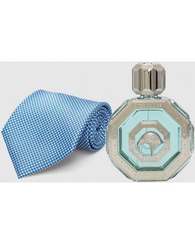 Шелковый серебряный галстук Stefano Ricci