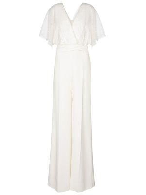 Biały kombinezon elegancki Max Mara
