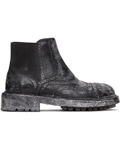Черные ботинки с круглым носком Dolce & Gabbana