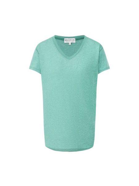 Хлопковая футболка - зеленая Wildfox