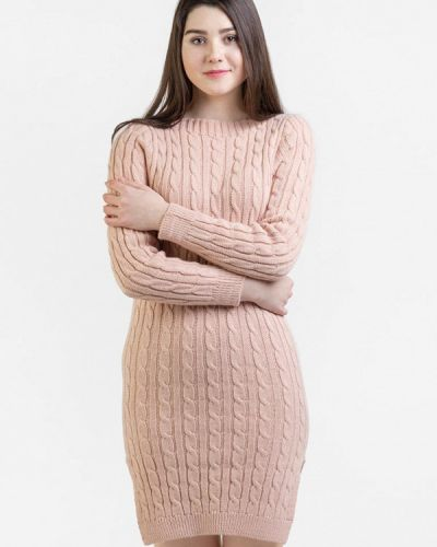 Платье розовое итальянский Intrico