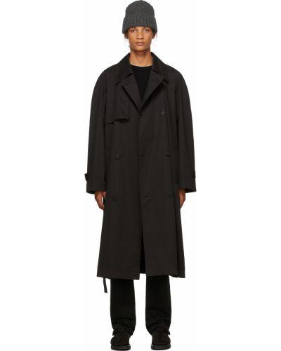 Черное пальто на пуговицах The Row