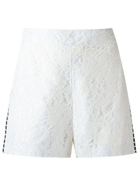 Кружевные белые шорты на молнии Martha Medeiros