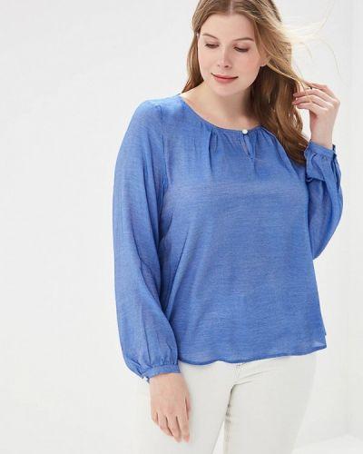 С рукавами синяя блузка Borboleta