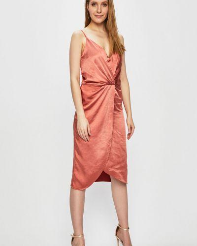 Платье мини однотонное с V-образным вырезом Vila