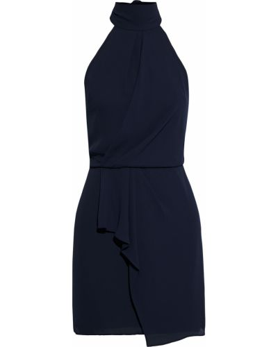 Синее платье мини с подкладкой из крепа Halston Heritage