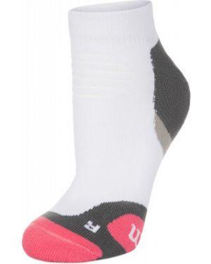 Белые нейлоновые спортивные компрессионные носки Wilson