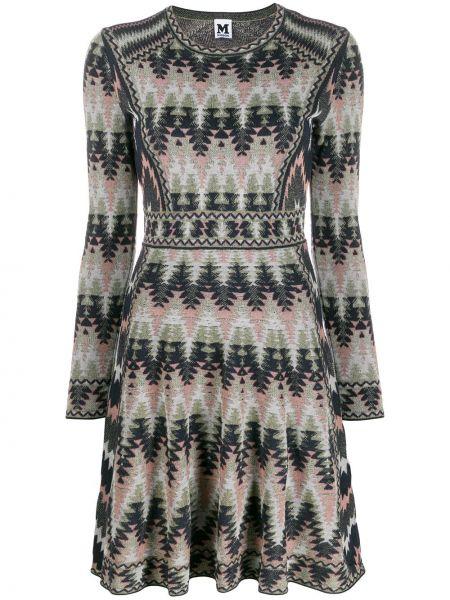 Платье с вырезом расклешенное M Missoni