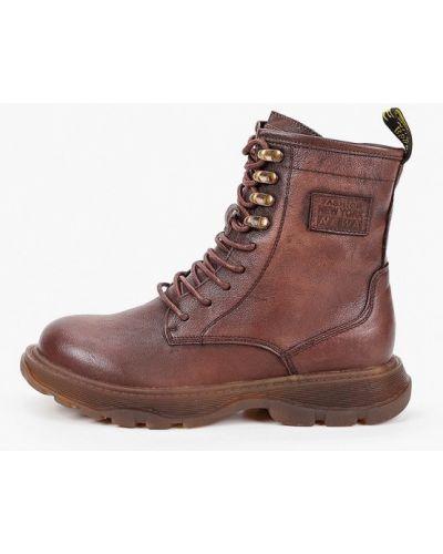 Коричневые кожаные ботинки Sprincway