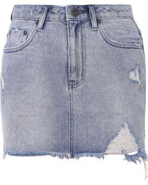 Юбка мини джинсовая с карманами One X One