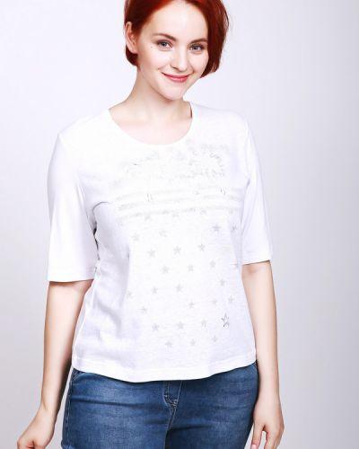 Белая футболка из вискозы Rabe Collection