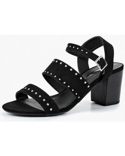 Босоножки на каблуке черные Dorothy Perkins