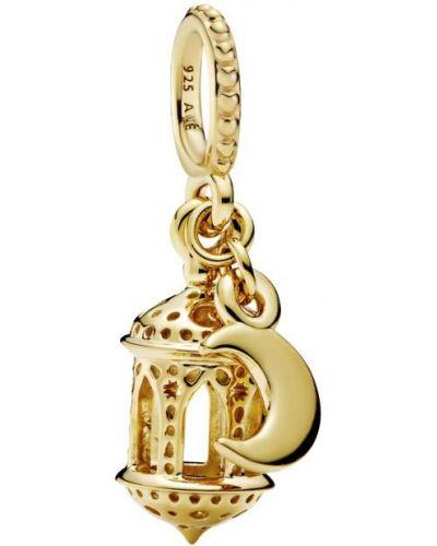 Подвеска золотая с подвесками позолоченная Pandora