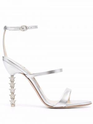 Серебряные резиновые сандалии Sophia Webster