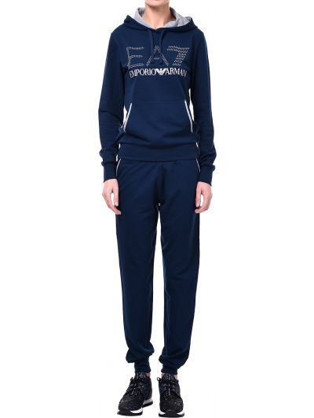Синий спортивный костюм Ea7 Emporio Armani