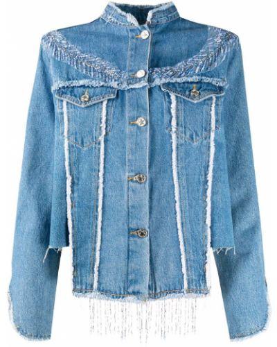 Хлопковая синяя джинсовая куртка с воротником Loulou