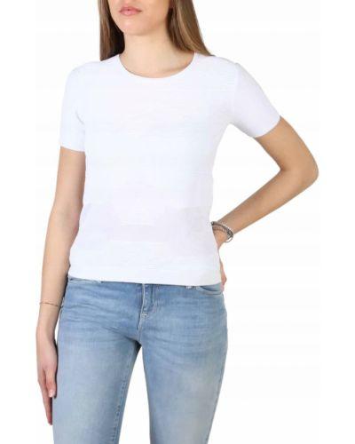 T-shirt z wiskozy - biała Armani Jeans