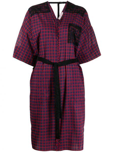 Хлопковое платье миди - красное A.f.vandevorst