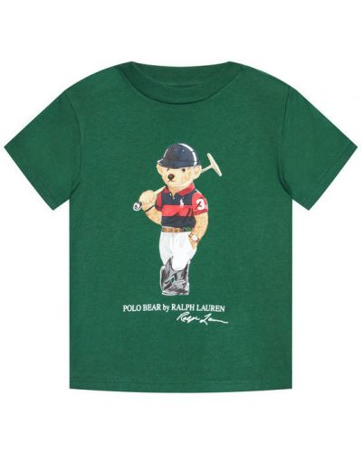 Zielony t-shirt Polo Ralph Lauren