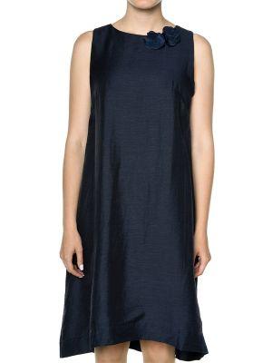 Платье из вискозы - синее Rene Lezard