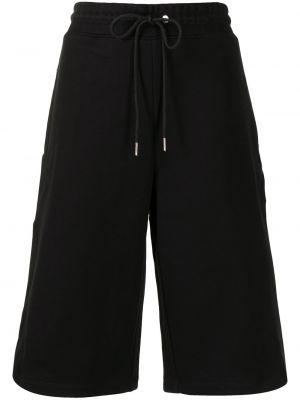 Хлопковые черные спортивные шорты с поясом Dion Lee
