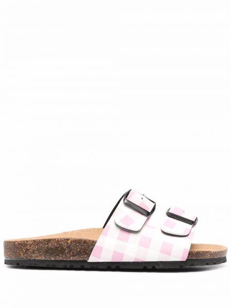 Открытые розовые кожаные сандалии Mc2 Saint Barth