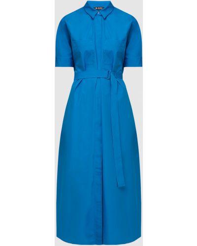 Синее платье макси Loro Piana