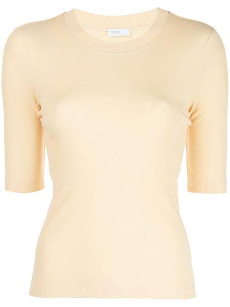 Хлопковая приталенная футболка с круглым вырезом круглая Rosetta Getty