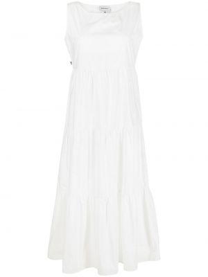 Белое платье без рукавов с вырезом Woolrich