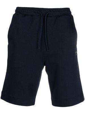 Хлопковые спортивные шорты - синие Boss Hugo Boss