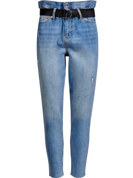 Хлопковые джинсы на молнии с поясом Liu Jo
