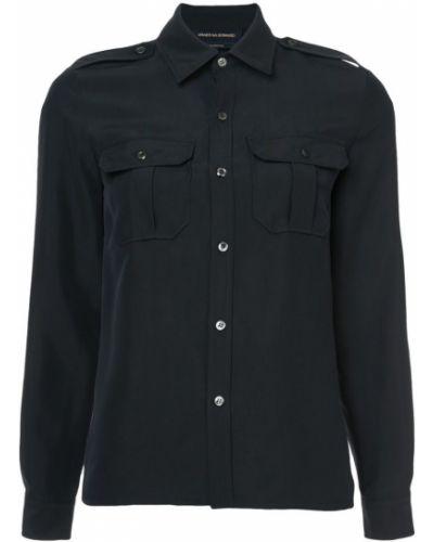 Шелковая рубашка - черная Vanessa Seward