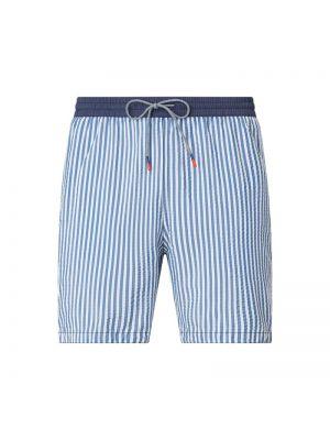 Niebieskie szorty w paski bawełniane Zeybra