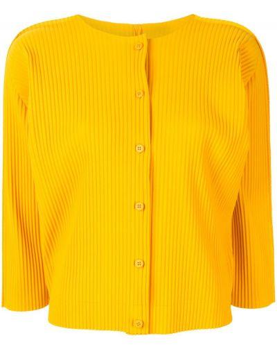 Кардиган желтый на пуговицах Issey Miyake Cauliflower