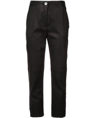 Кожаные брюки - черные Yigal AzrouËl