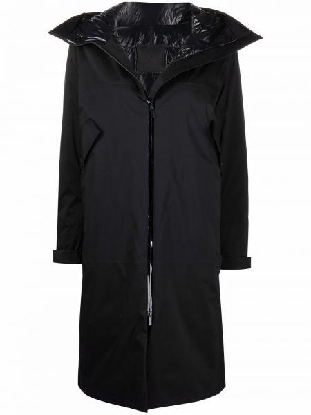 Полупальто с капюшоном - черное Moncler