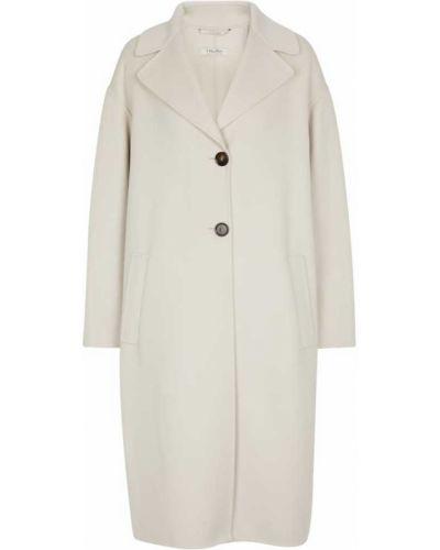 Biały płaszcz elegancki S Max Mara