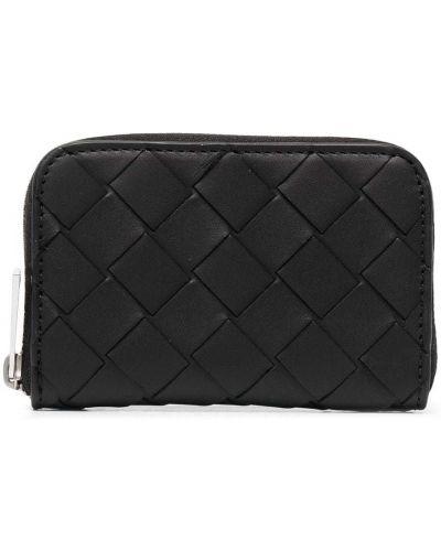 Черный кожаный кошелек для монет Bottega Veneta