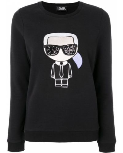 Толстовка с принтом черная Karl Lagerfeld
