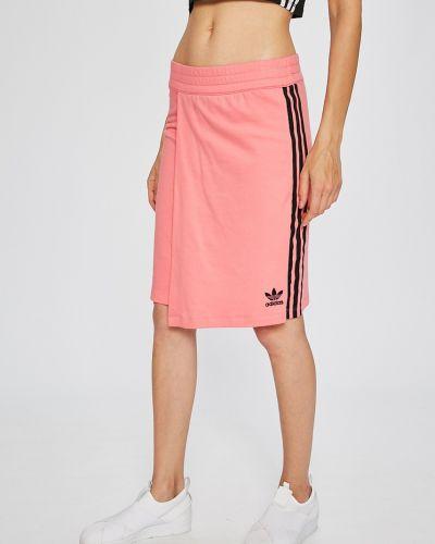 Юбка мини с завышенной талией на резинке Adidas Originals