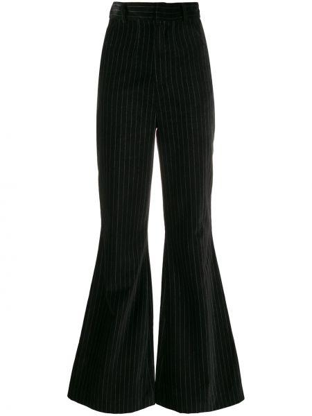 Черные расклешенные свободные брюки с карманами Situationist