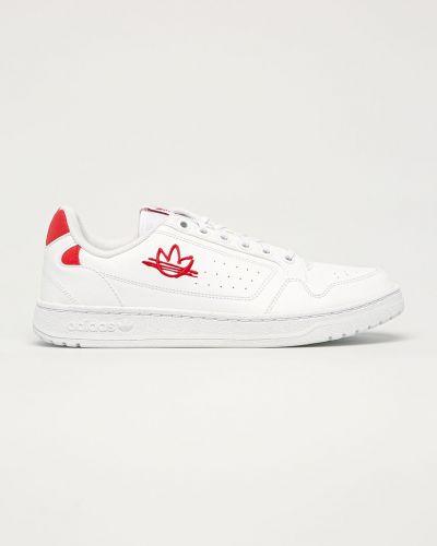 Białe sneakersy sznurowane na obcasie Adidas Originals