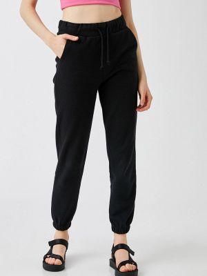 Черные зимние спортивные брюки Koton