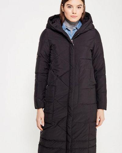 Утепленная куртка черная осенняя Mazal