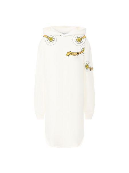 Платье с капюшоном из футера Givenchy