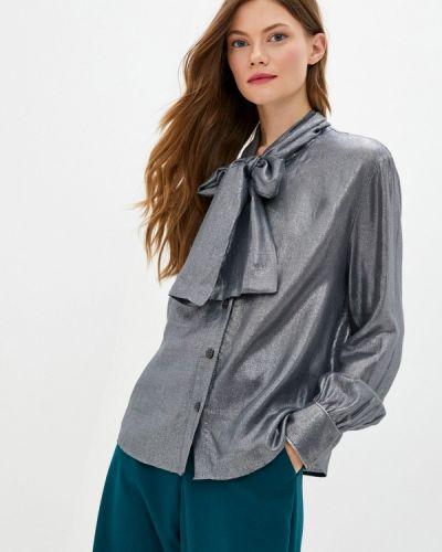 Серебряная блузка с бантом Imperial